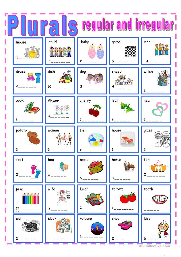 204 Free Esl Plural Nouns  Regular Plurals With S Ending Worksheets