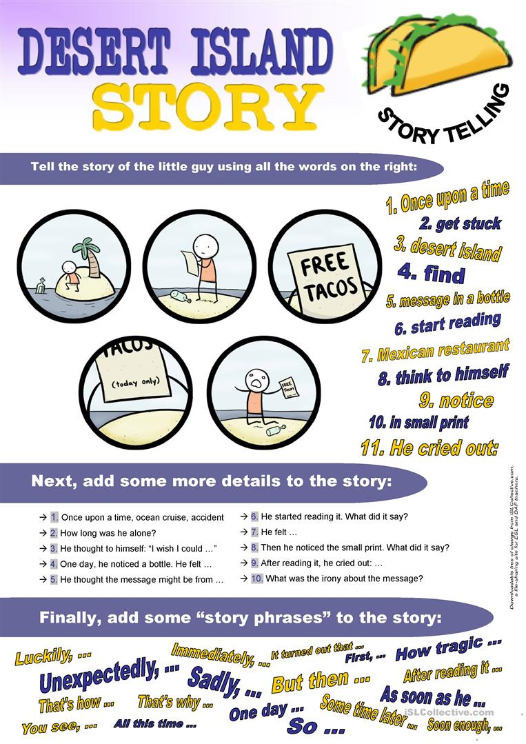 38 Free Esl Storytelling Worksheets