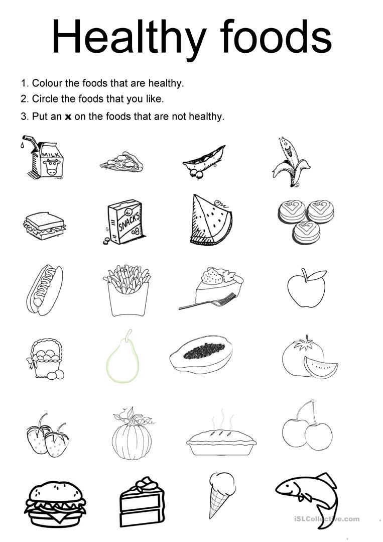 53 Free Esl Foods Worksheets