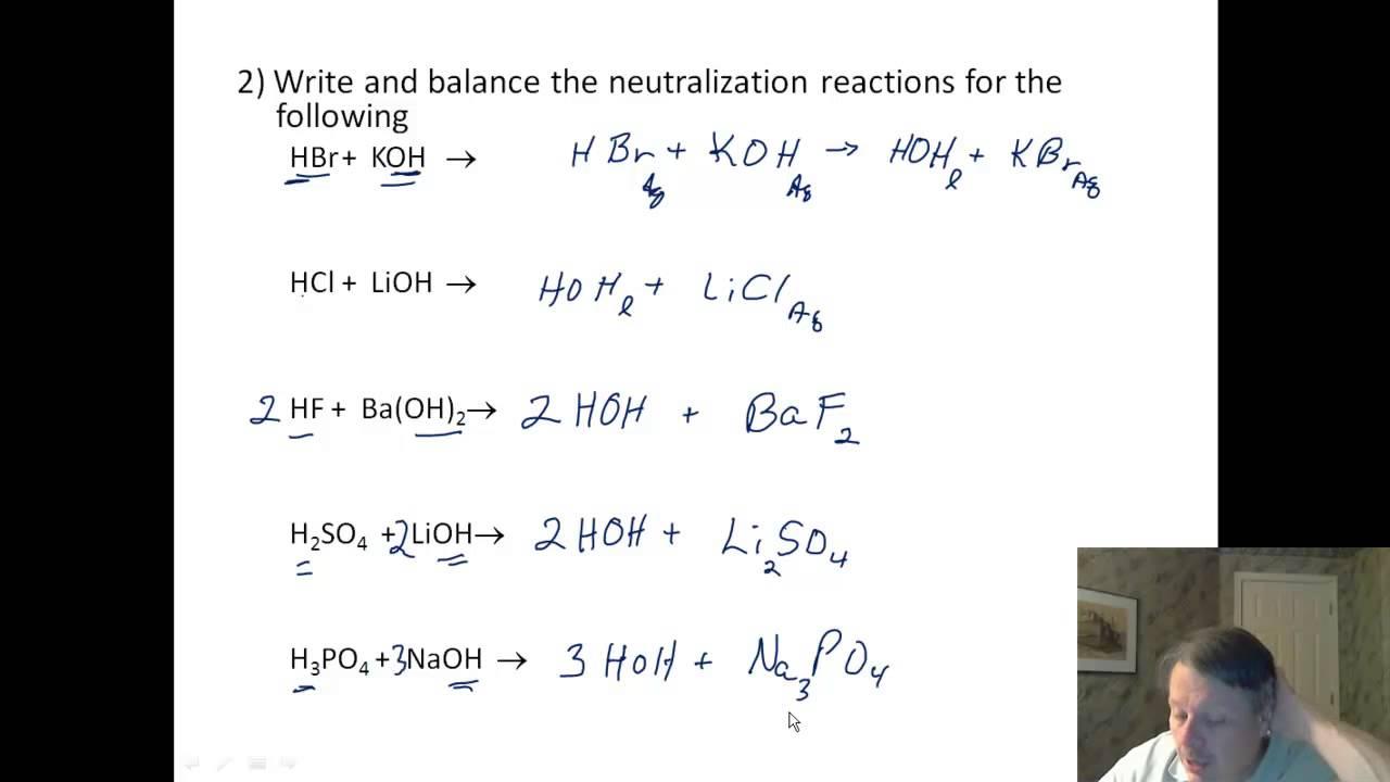Acids 04 Worksheet