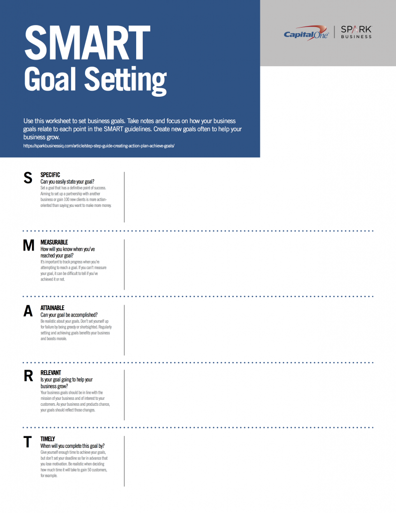Building A Small Business Using Smart Goals