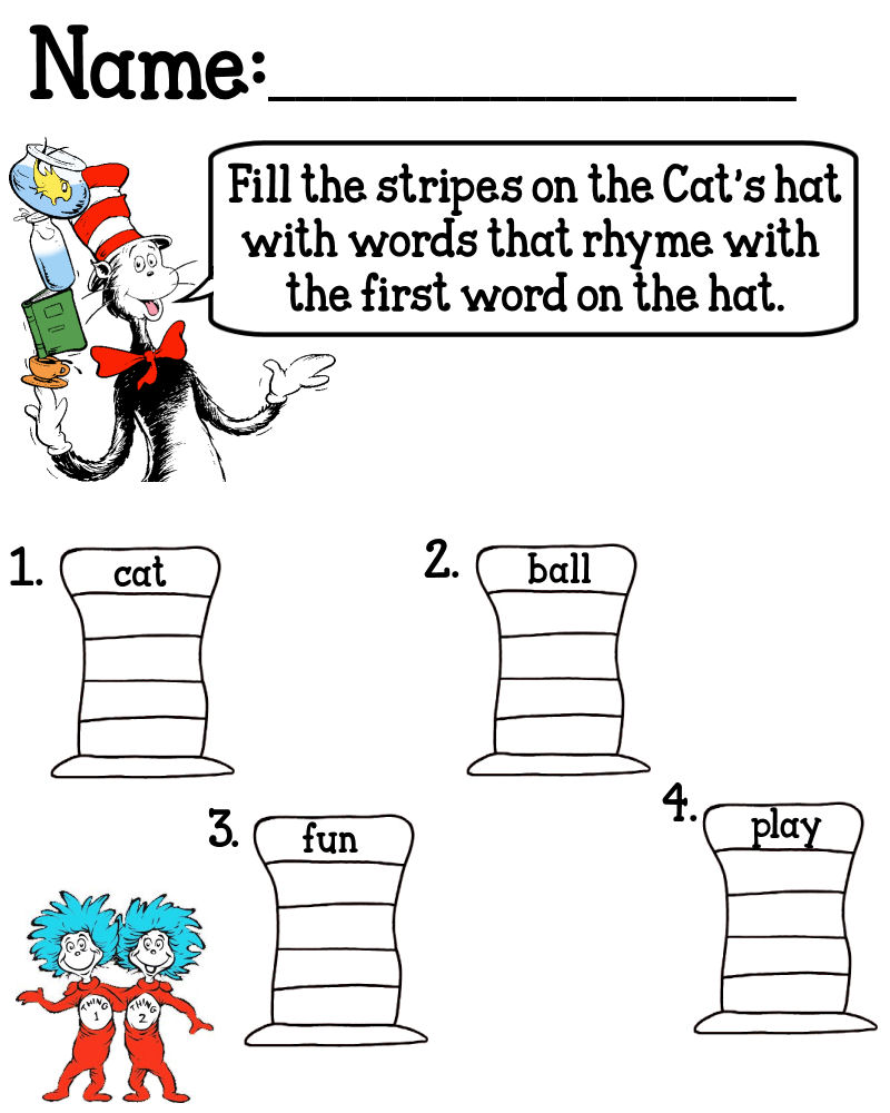 Cat In The Hat Printables