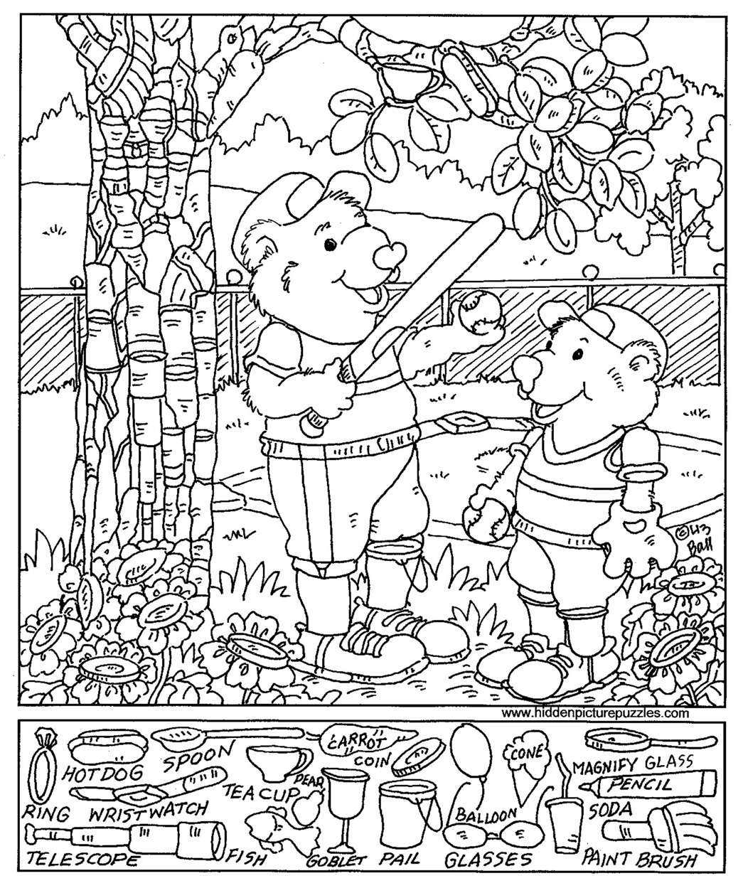 Coloring Pages Printable  Free Printable Hidden Pictures