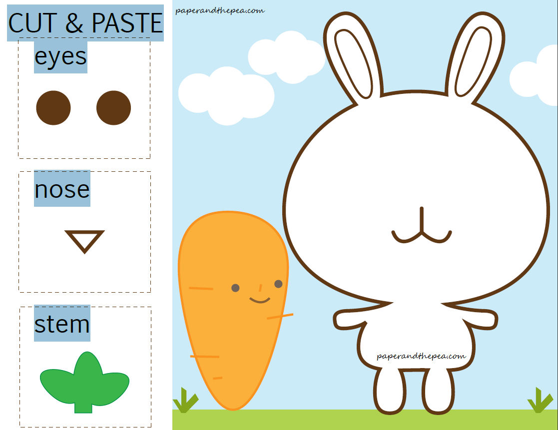 Cut And Paste Worksheets For Kıds (1) « Funnycrafts