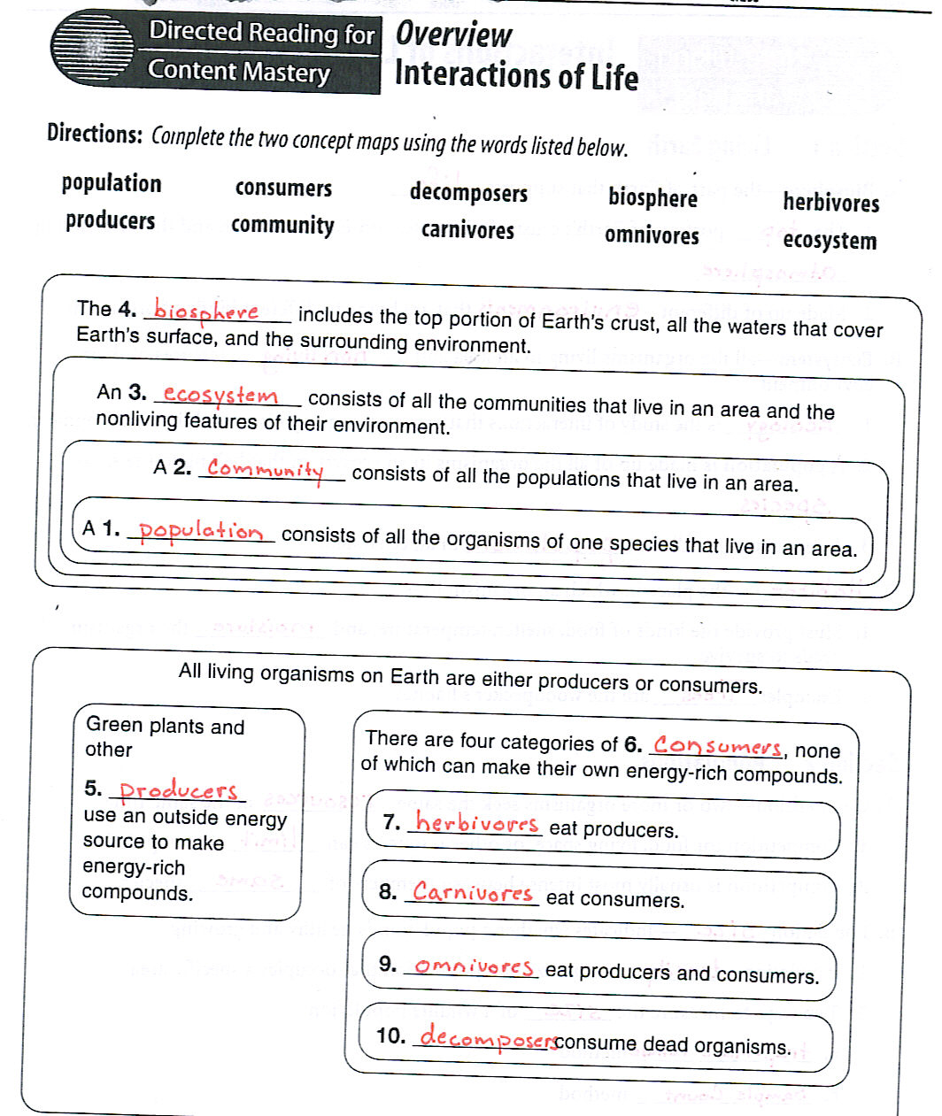 Ecology Worksheets Free Worksheets Library