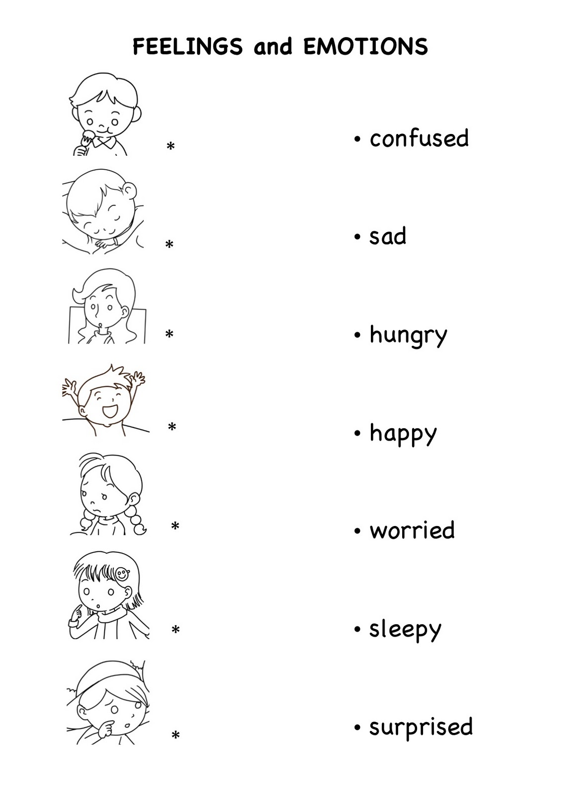 Emotion Worksheet Free Worksheets Library