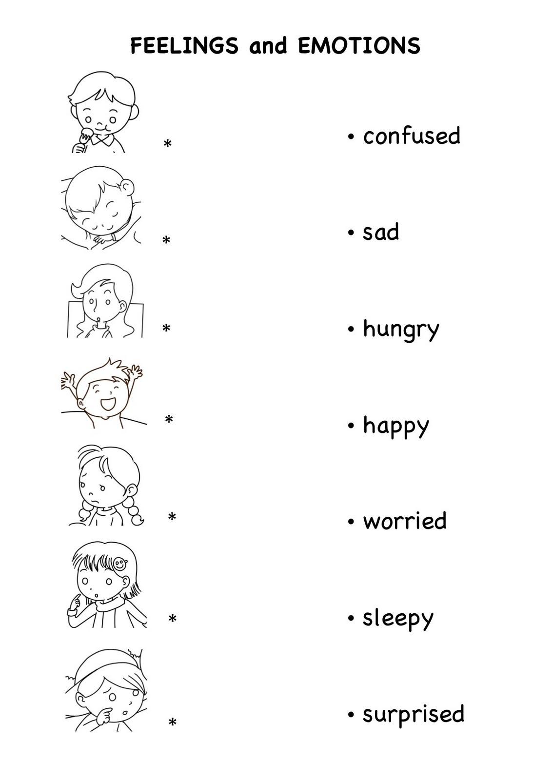 Emotions Kindergarten Worksheets