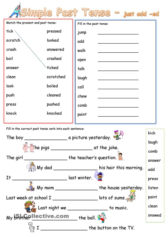 Esl Past Tense Worksheets Free Worksheets Library