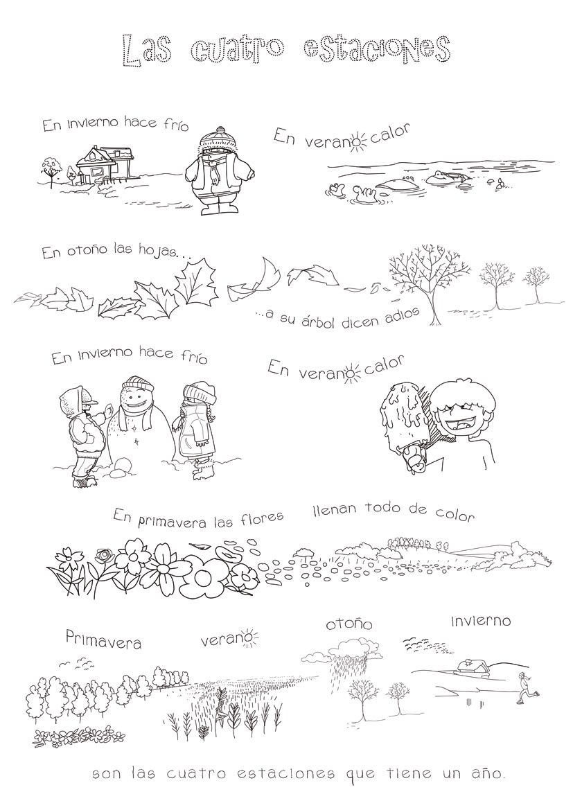 Four Seasons In Spanish Song For Kids