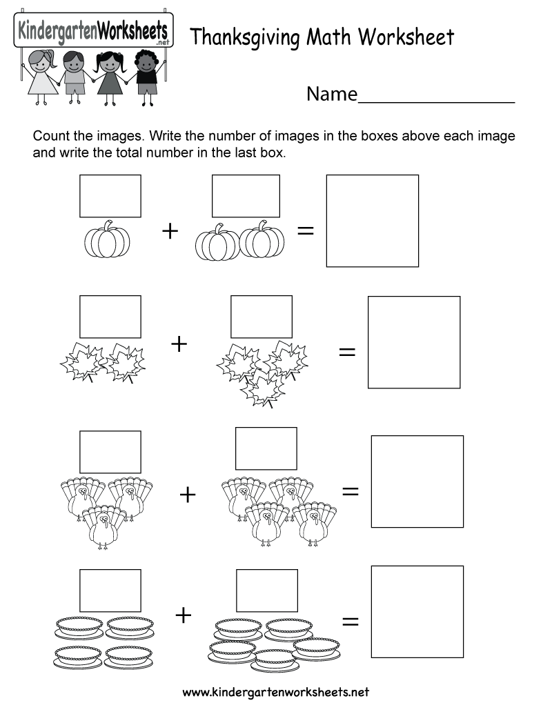 Free Printable Thanksgiving Math Worksheet For Kindergarten