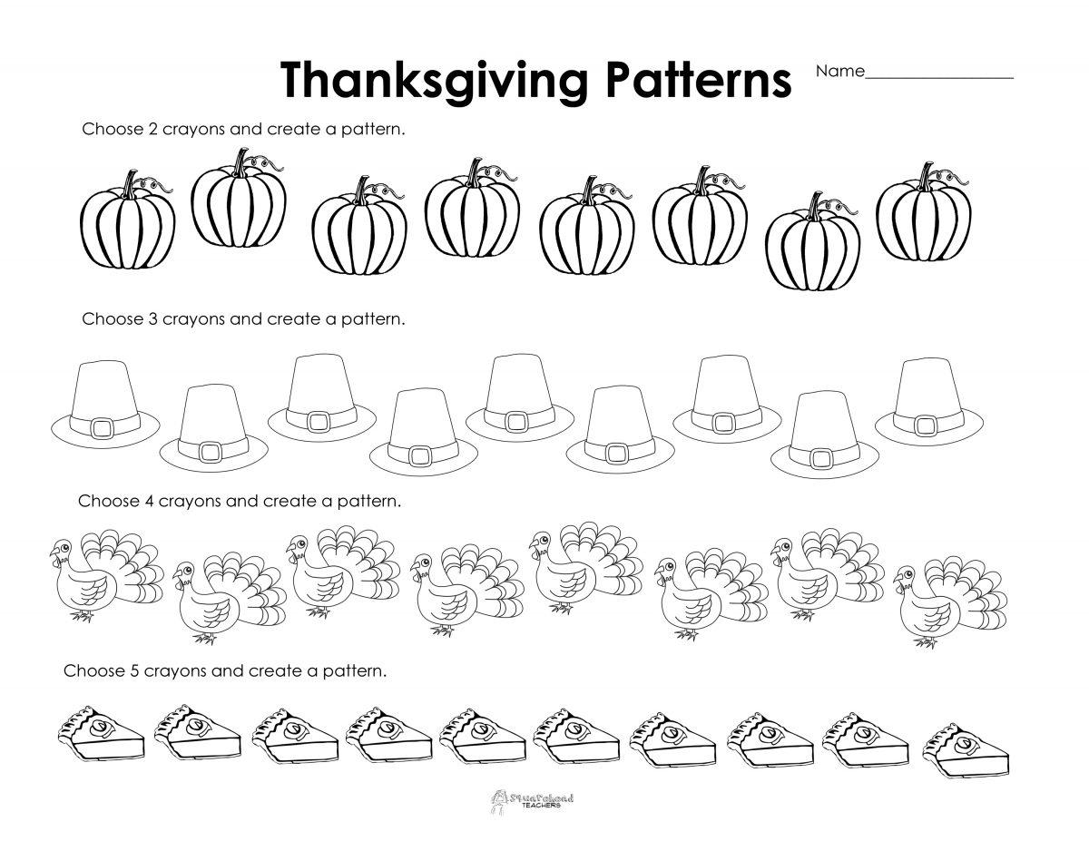 Kindergarten Thanksgiving Worksheets Printables Free Worksheets