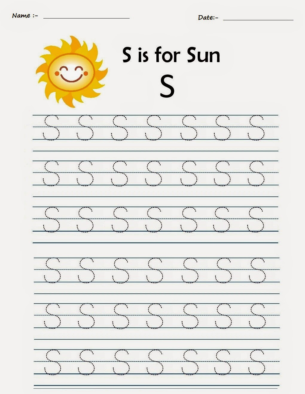 Kindergarten Worksheets  Printable Tracing Worksheets