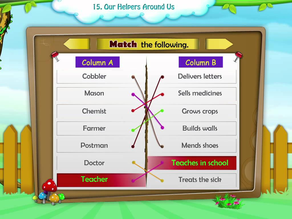 Learn Grade 2 Evs Our Helpers Youtube Community Workers Lesson