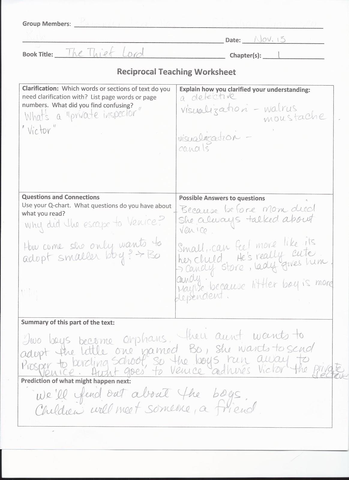 Making Shift Happen  Reciprocal Teaching