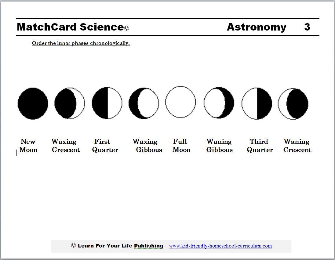 Moon Phases Worksheet Printable
