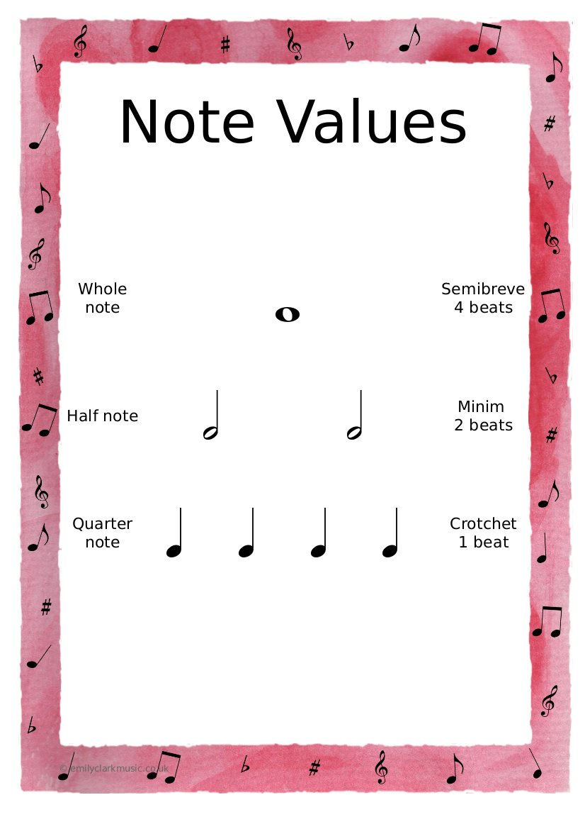 Music Theory Worksheets For Beginners Free Worksheets Library