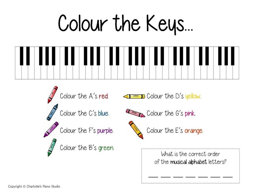 Piano Worksheet Free Worksheets Library
