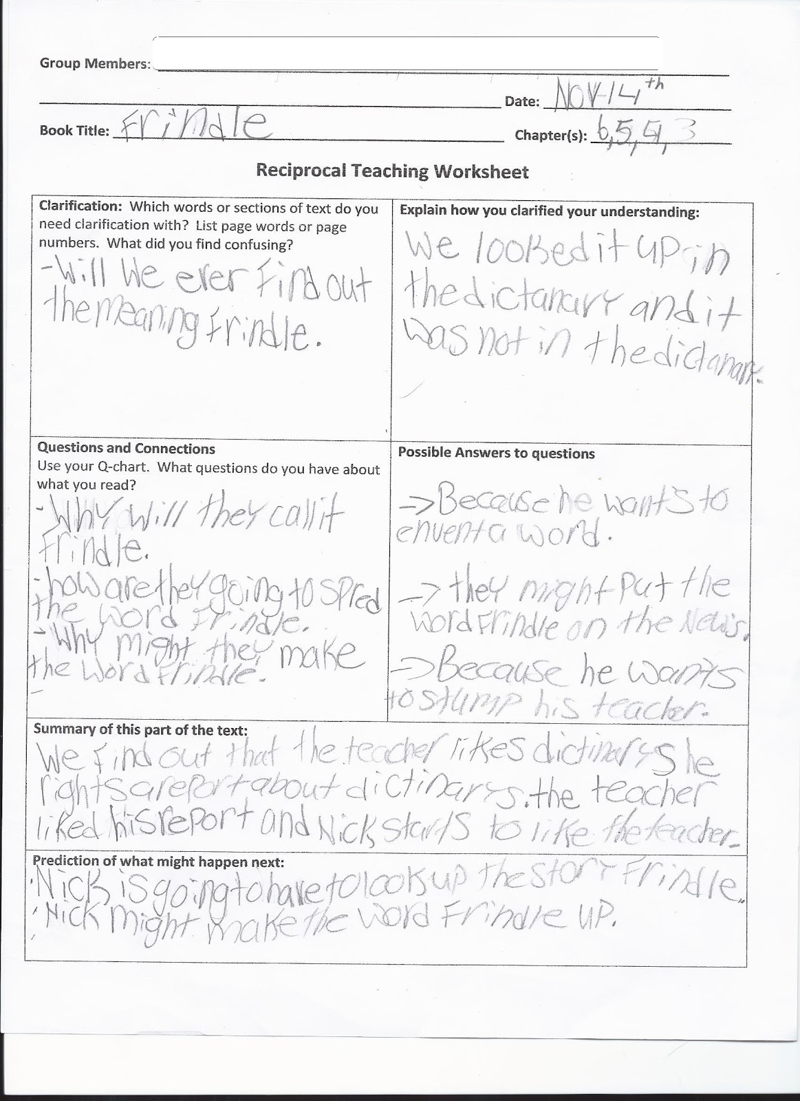 Reciprocal Teaching Worksheets Free Worksheets Library