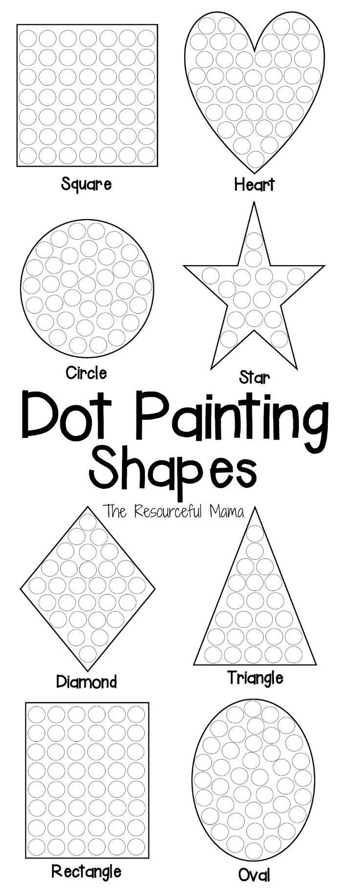 Shapes Dot Painting {free Printable