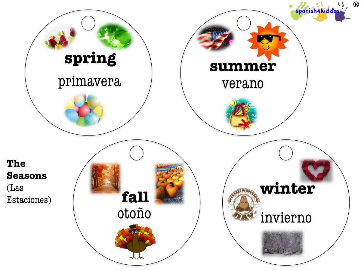 Spanish Seasons • Spanish4kiddos Educational Resources