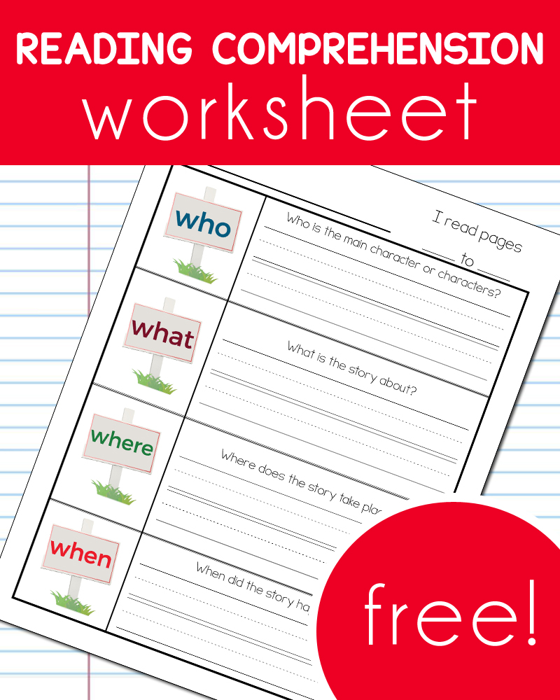 Story Reading Comprehension Worksheets