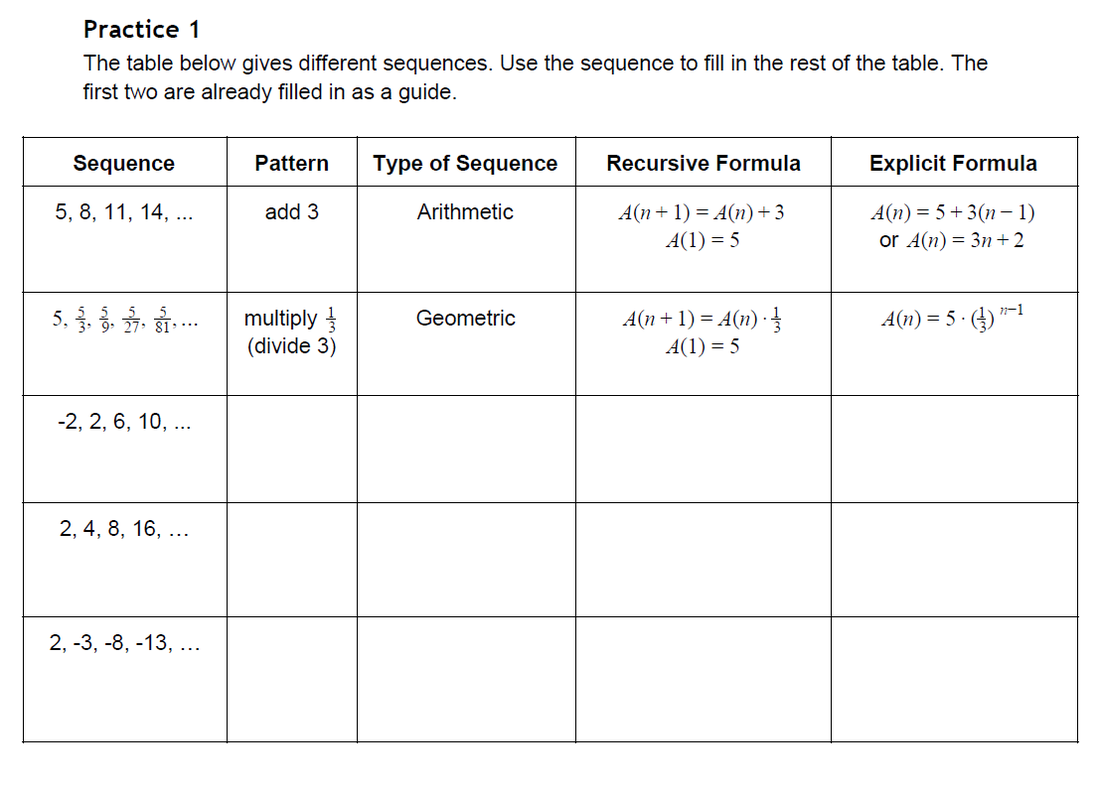 worksheet Arithmetic And Geometric Sequences Worksheet arithmetic and geometric sequences worksheets