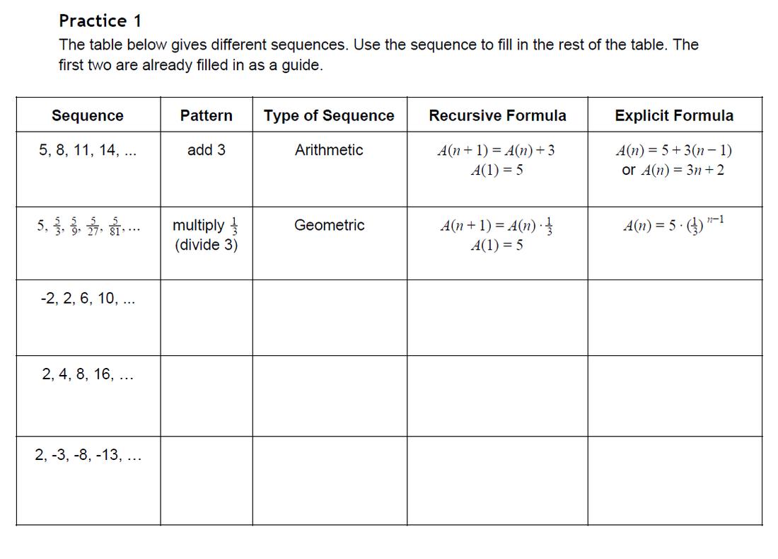 Worksheets  Arithmetic And Geometric Sequences Worksheet  Eihseba
