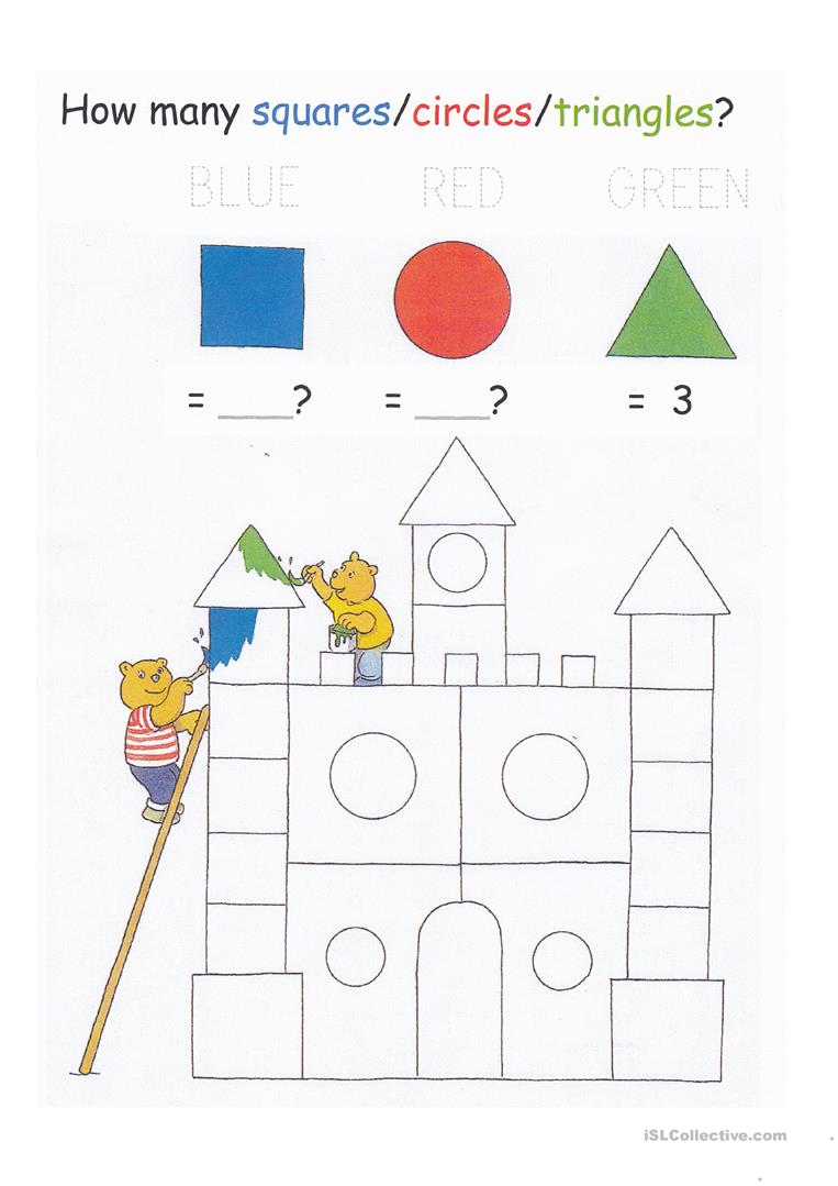 147 Free Esl Shapes Worksheets