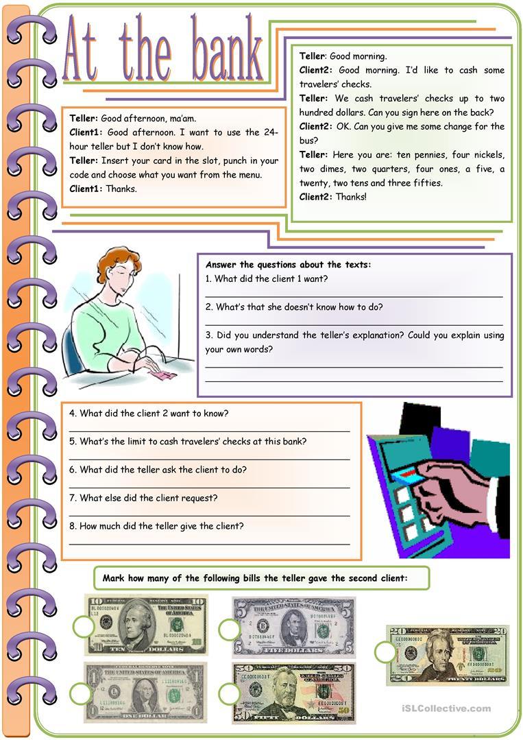 150 Free Esl Money Worksheets
