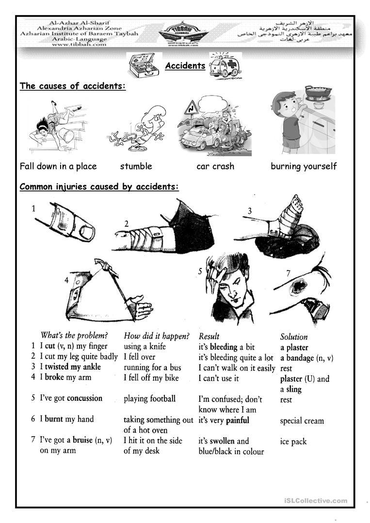 15 Free Esl Emergency Worksheets