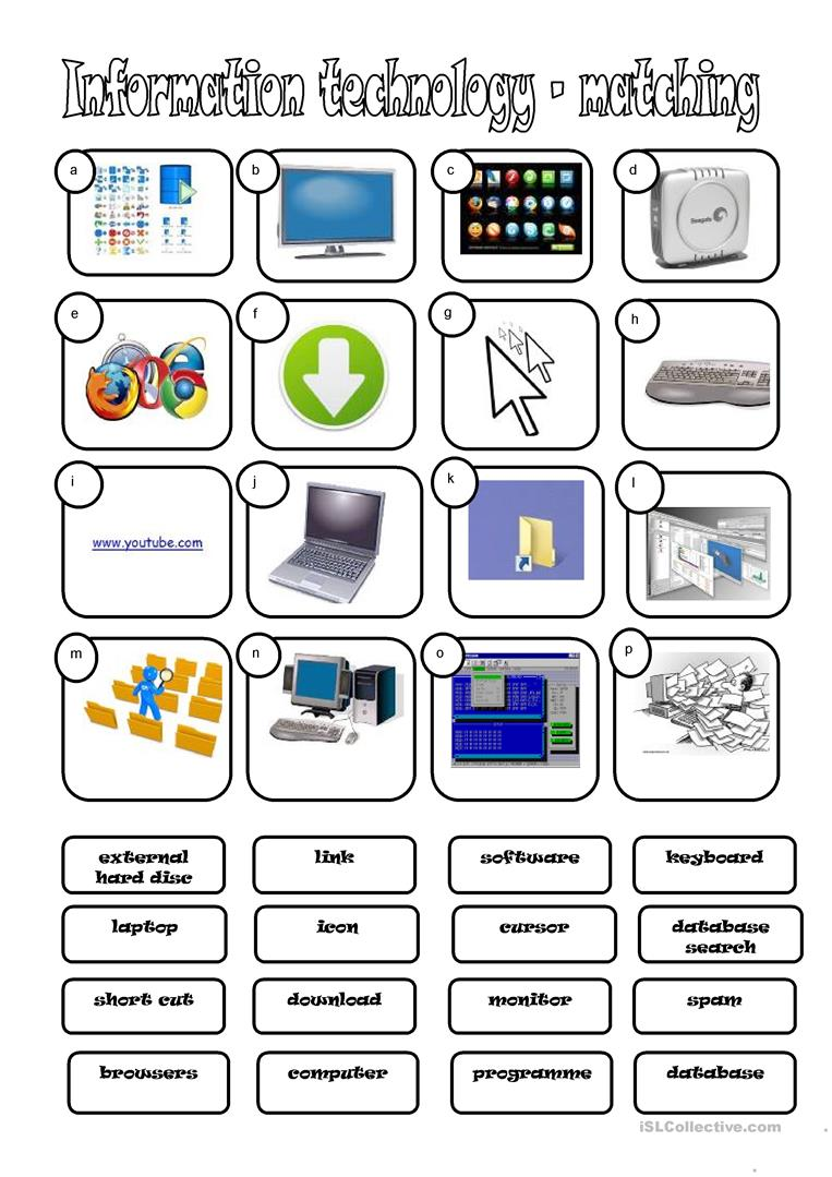 179 Free Esl Computers & Technology Worksheets