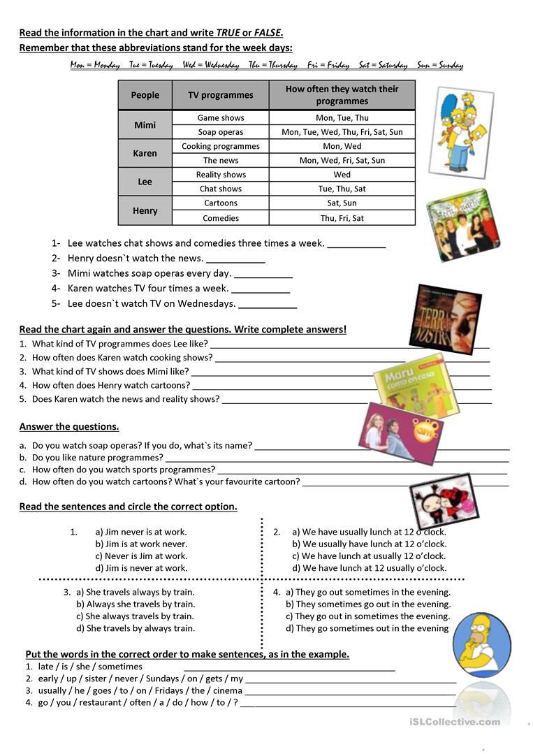 17 Free Esl Adverbs Of Time Worksheets