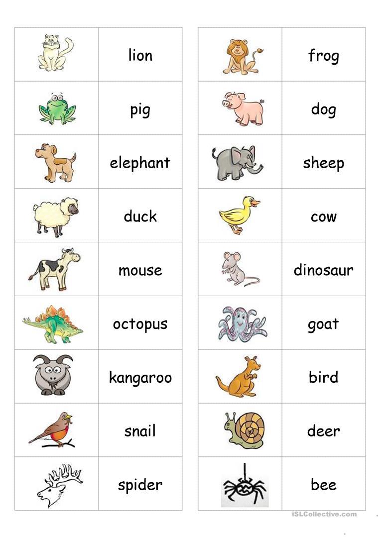 2076 Free Esl Animals Worksheets