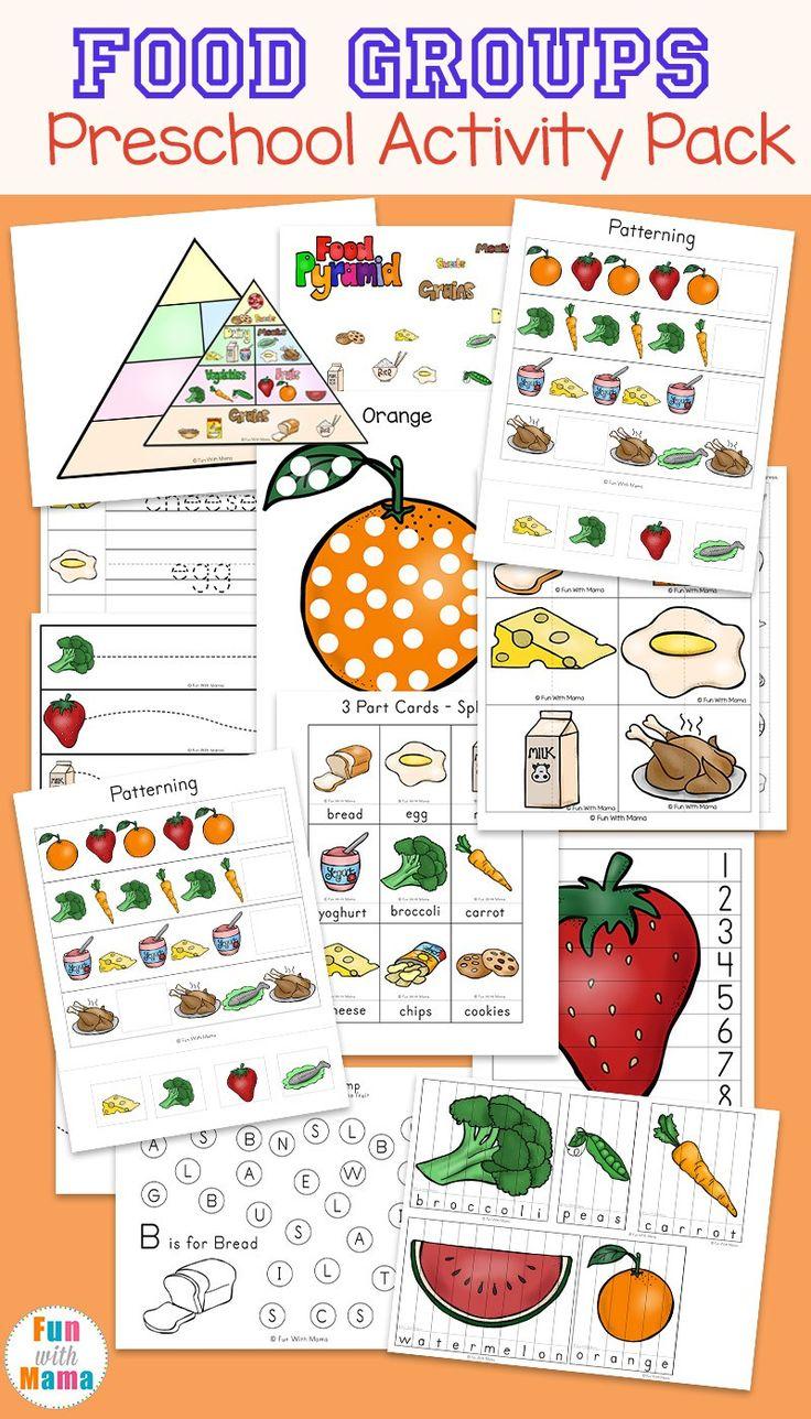 224 Best Food Group Images On Worksheets Samples Preschool Nutrition Lesson