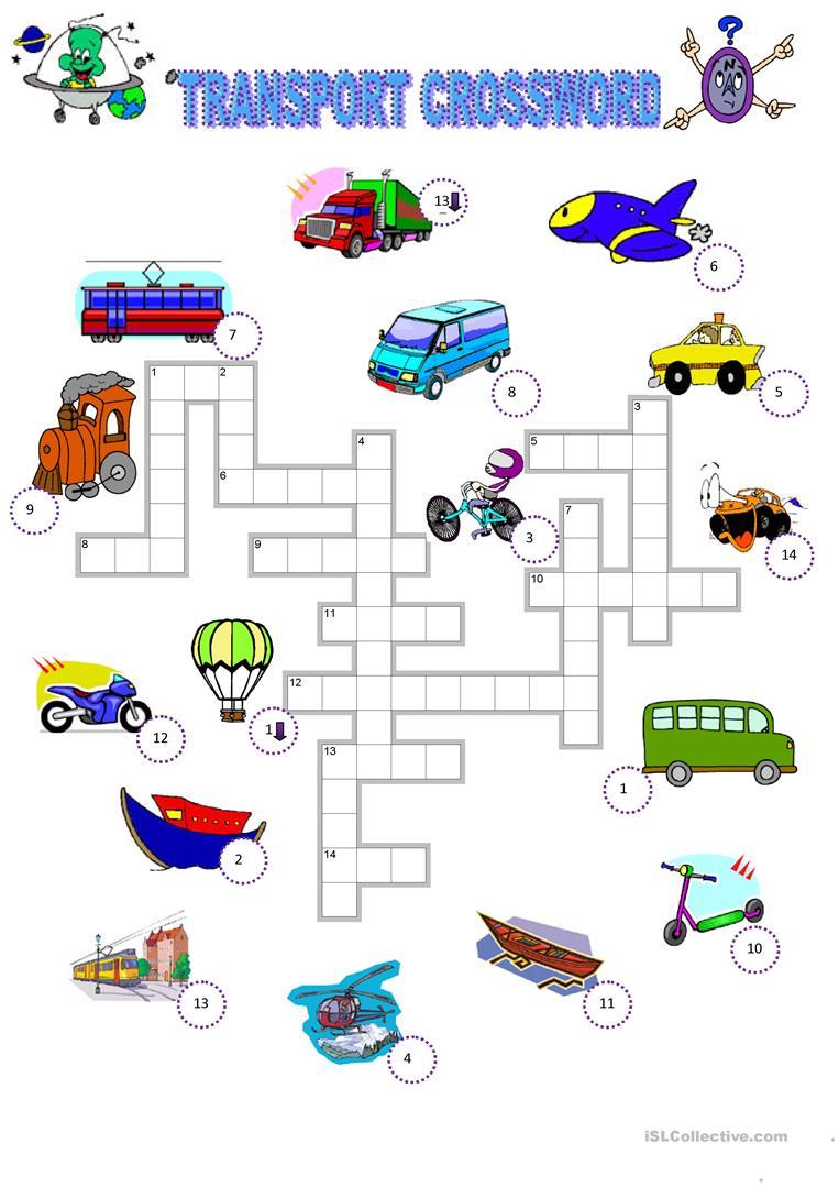 300 Free Esl Means Of Transport Worksheets
