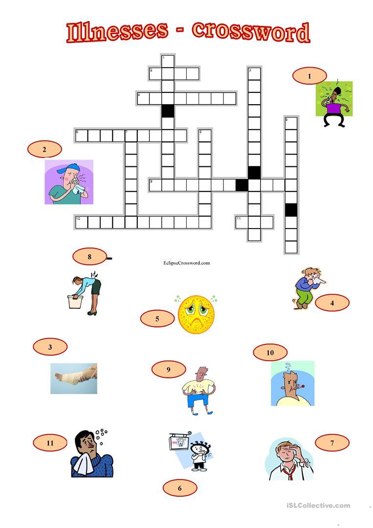 33 Free Esl Illnesses Worksheets
