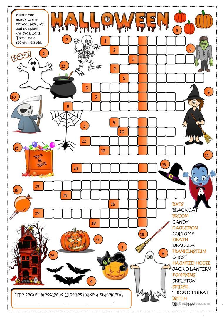 462 Free Esl Halloween Worksheets
