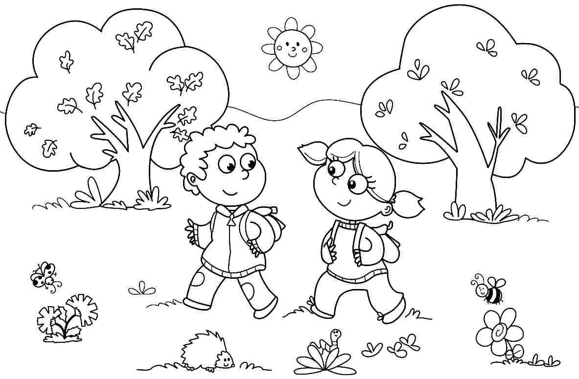 46 Free Coloring Pages For Kindergarten Kids