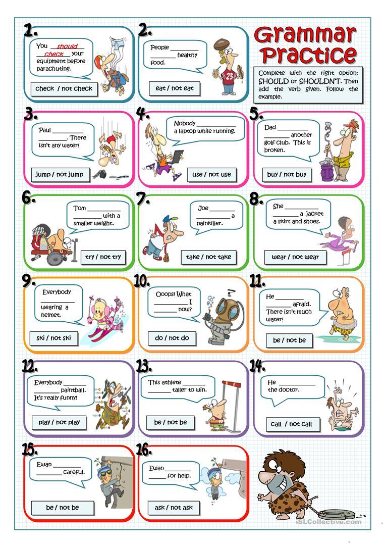 46 Free Esl Giving Advice Worksheets