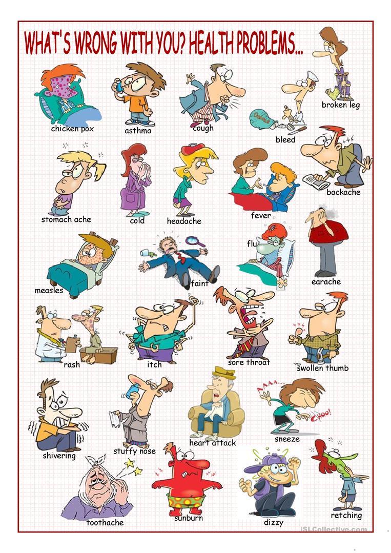 46 Free Esl Health Problems Worksheets
