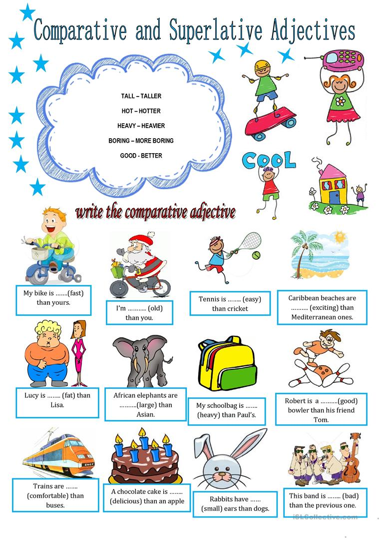 49 Free Esl Comparative And Superlative Adjectives Worksheets