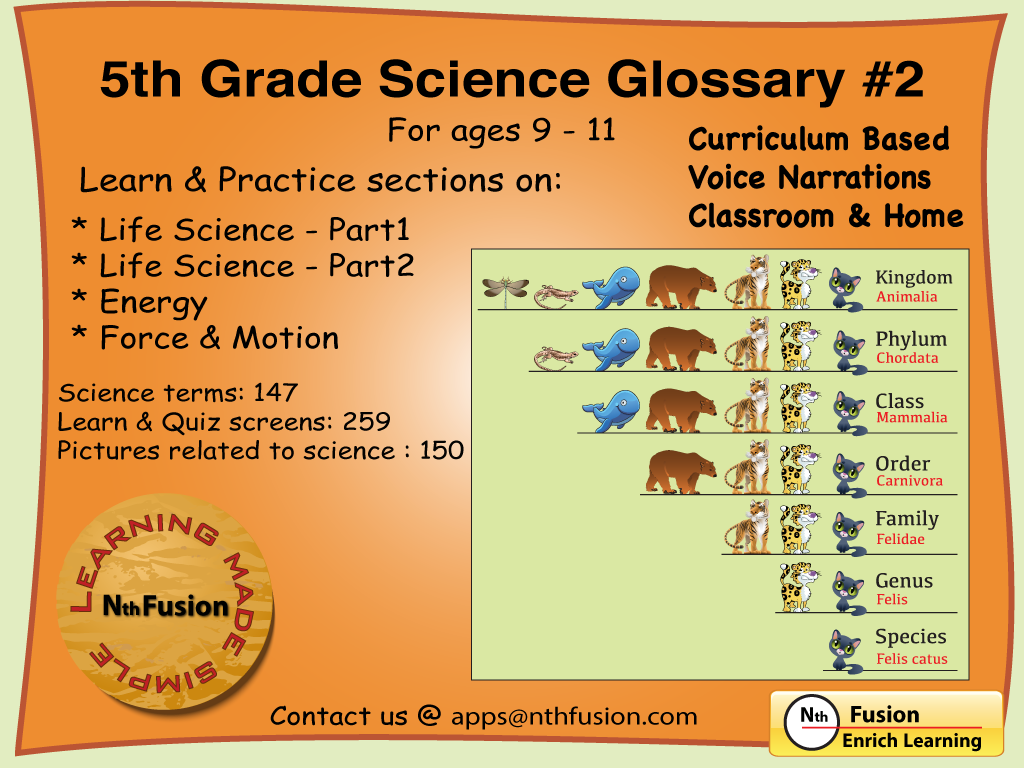 5th Grade Science Glossary  2 Ipad App   Learn And Practice