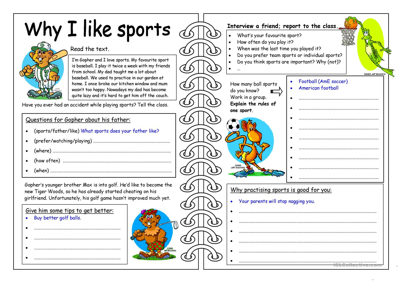 615 Free Esl Sports Worksheets