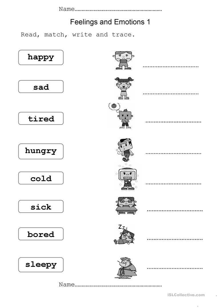 639 Free Esl Feelings, Emotions Worksheets