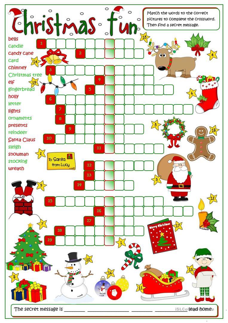 847 Free Esl Christmas Worksheets