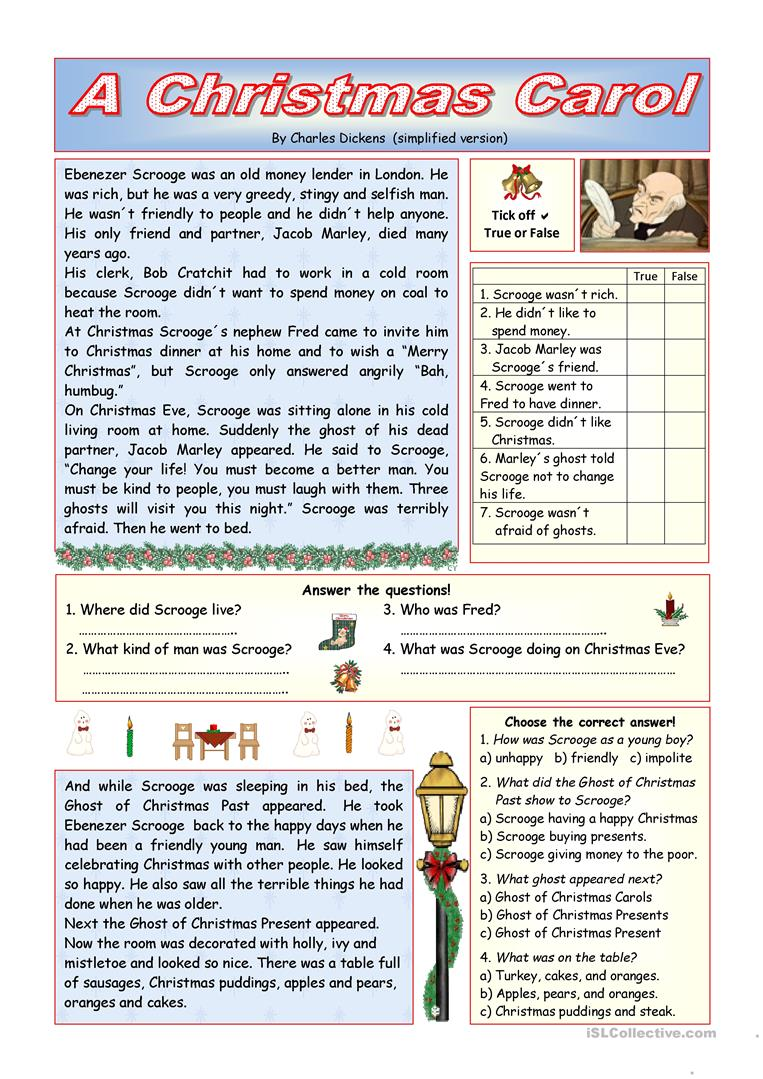 847 Free Esl Christmas Worksheets