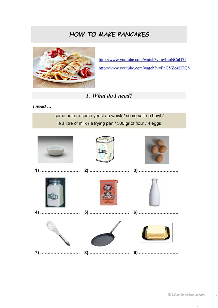 91 Free Esl Recipe Worksheets