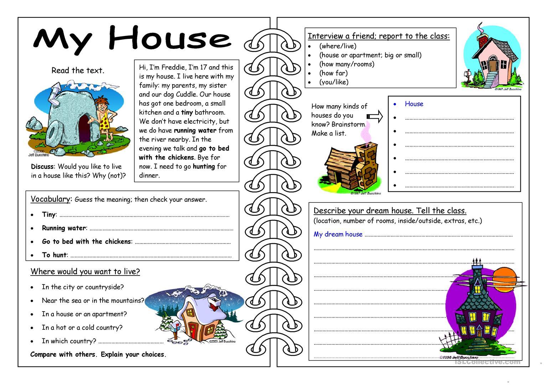 95 Free Esl My House Worksheets