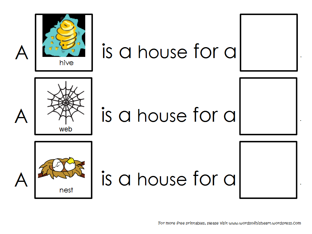 A House Is A House For Me – Animal Habitats