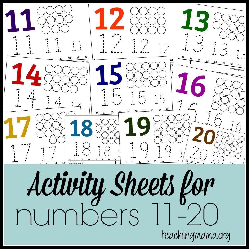 worksheet Worksheets For Numbers 11 20 numbers 11 20 tracing worksheets